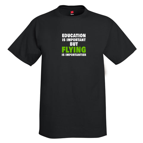 Education-Flying Aviation Airplane T-Shirt