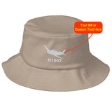 Custom Airplane Embroidered Flexfit Bucket Hat