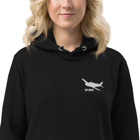 Custom Embroidered Hoodie Dress - Personalized w/ your Airplane Aircraft