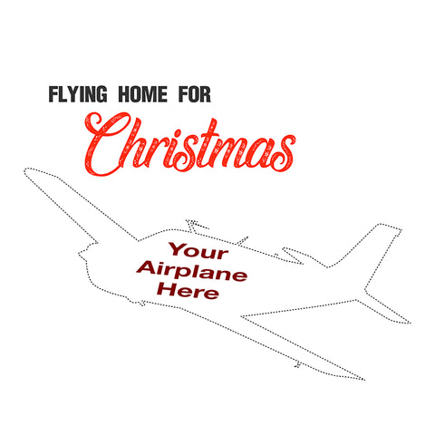 Flying Home For Christmas Airplane Theme