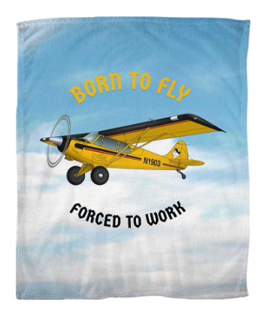 Custom Airplane Fleece Blankets