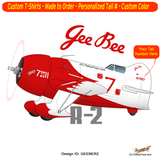 GEE BEE R-2 Airplane T-Shirt - Personalized with Your N#