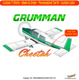 Grumman American AA-5A Cheetah Airplane T-shirt- Personalized with N#