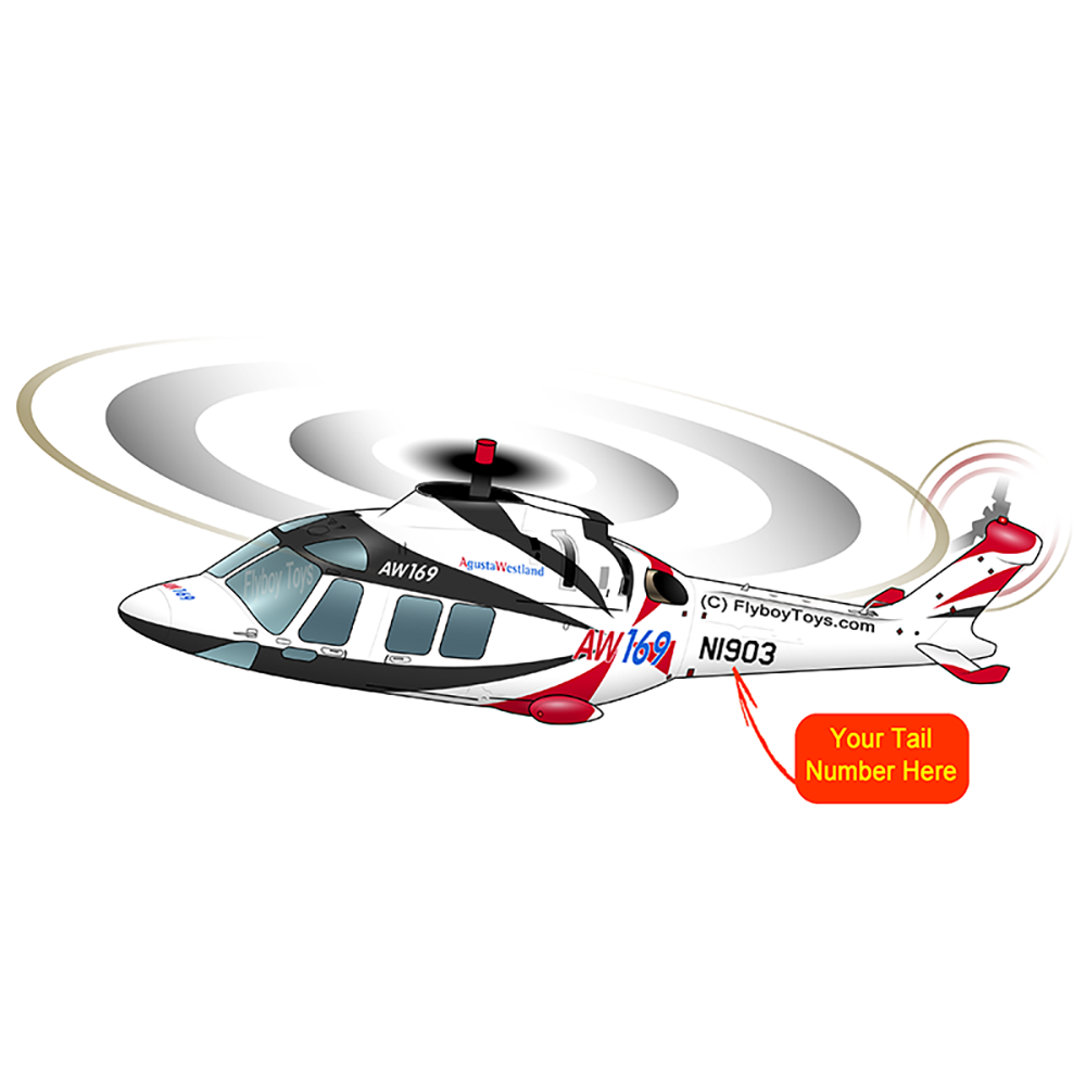 Helicopter Design (Black/Red) - HELI17LAW169-BR1 – Flyboy Toys