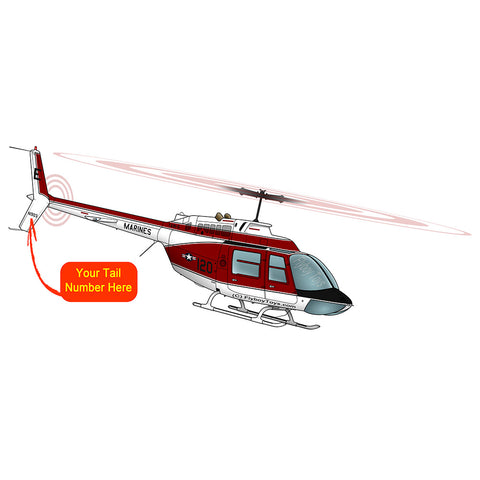 Helicopter Design (Red) - HELI25C206-R1