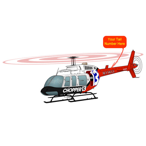 Helicopter Design (Red/Black) - HELI25C206-RB1