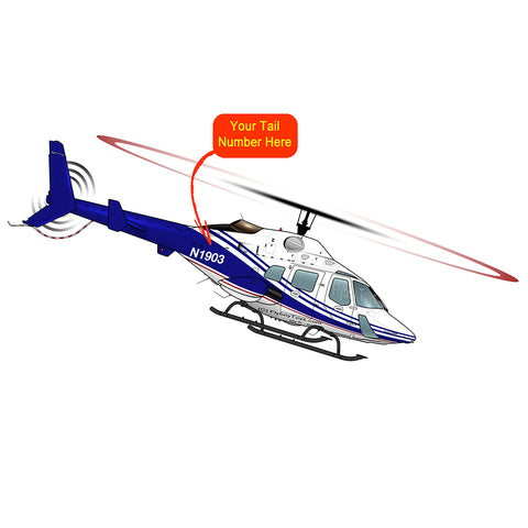 Helicopter Design (Blue/Red) - HELI25C222230-BR1