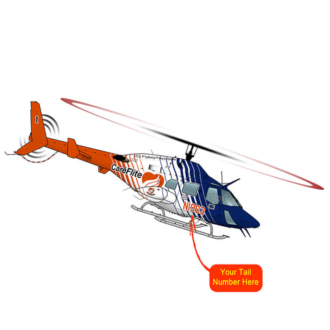 Helicopter Design (Orange/Blue) - HELI25C222230-OB1