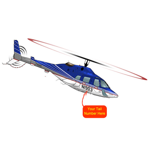 Helicopter Design (Silver/Blue/Red) - HELI25C222230-SBR1