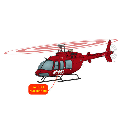 Helicopter Design (Red #1) - HELI25C407-R1