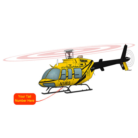 Helicopter Design (Yellow/Black) - HELI25C407-YB1