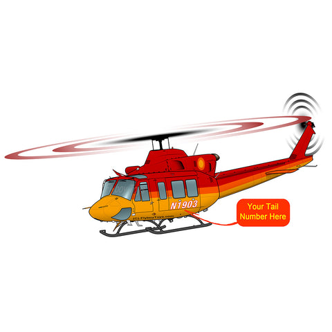 Helicopter Design (Red/Gold) - HELI25C412-RG1