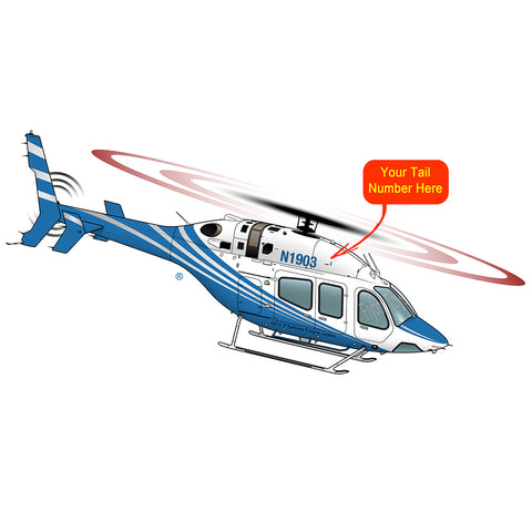 Helicopter Design (Blue) - HELI25C429-B1