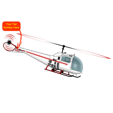 Helicopter Design (Red) - HELI25C47J-R1