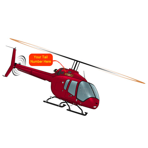 Helicopter Design (Red) - HELI25C505-R1