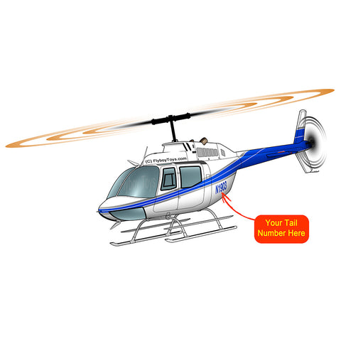 Helicopter Design (Silver/Blue) - BELLOH58A-SB1