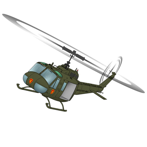 Helicopter Design (Green) - HELI25CUH1-G1