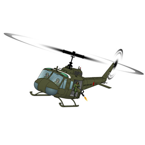 Helicopter Design (Green #2) - HELI25CUH1-G2