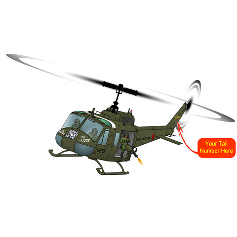 Helicopter Design (Green #3) - HELI25CUH1-G3