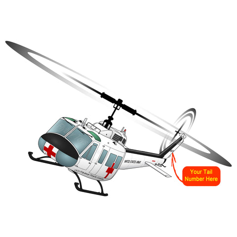 Helicopter Design (White) - HELI25CUH1-W1