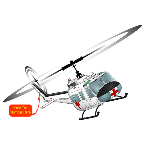 Helicopter Design (White#2) - HELI25CUH1-W2