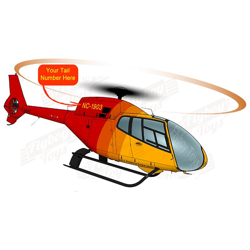 Helicopter Design (Red/Orange) - HELI5LIEC120B-RO1