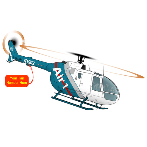Helicopter Design (Blue Green) - HELID22BO105CBS-BG
