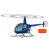 Helicopter Design (Blue) - HELIIF2R22-B1