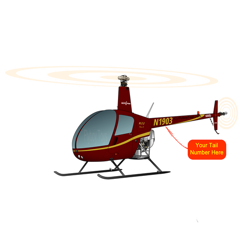 Helicopter Design (Maroon) - HELIIF2R22-M1