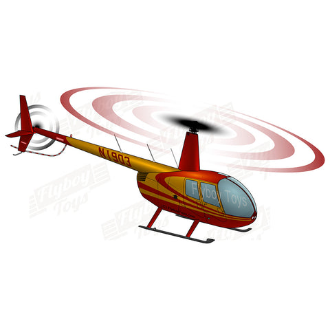 Helicopter Design (Red#3) - HELIIF2R44-R3