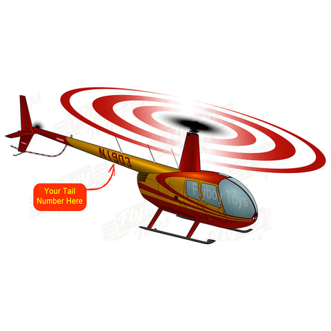 Helicopter Design (Red) - HELIIF2R44-R4