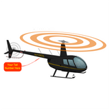 Helicopter Design (Black/Yellow) - HELIIF2R44-YB1