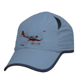 Mooney (Red) Airplane Pilot Hat - Personalized with N#