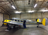 "Beechcraft Beech 18 ""Twin Beech"" (Yellow) Airplane Design"
