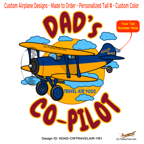 Dad's Co-Pilot Curtis Wright Travel Air (Yellow/Blue) Airplane Design