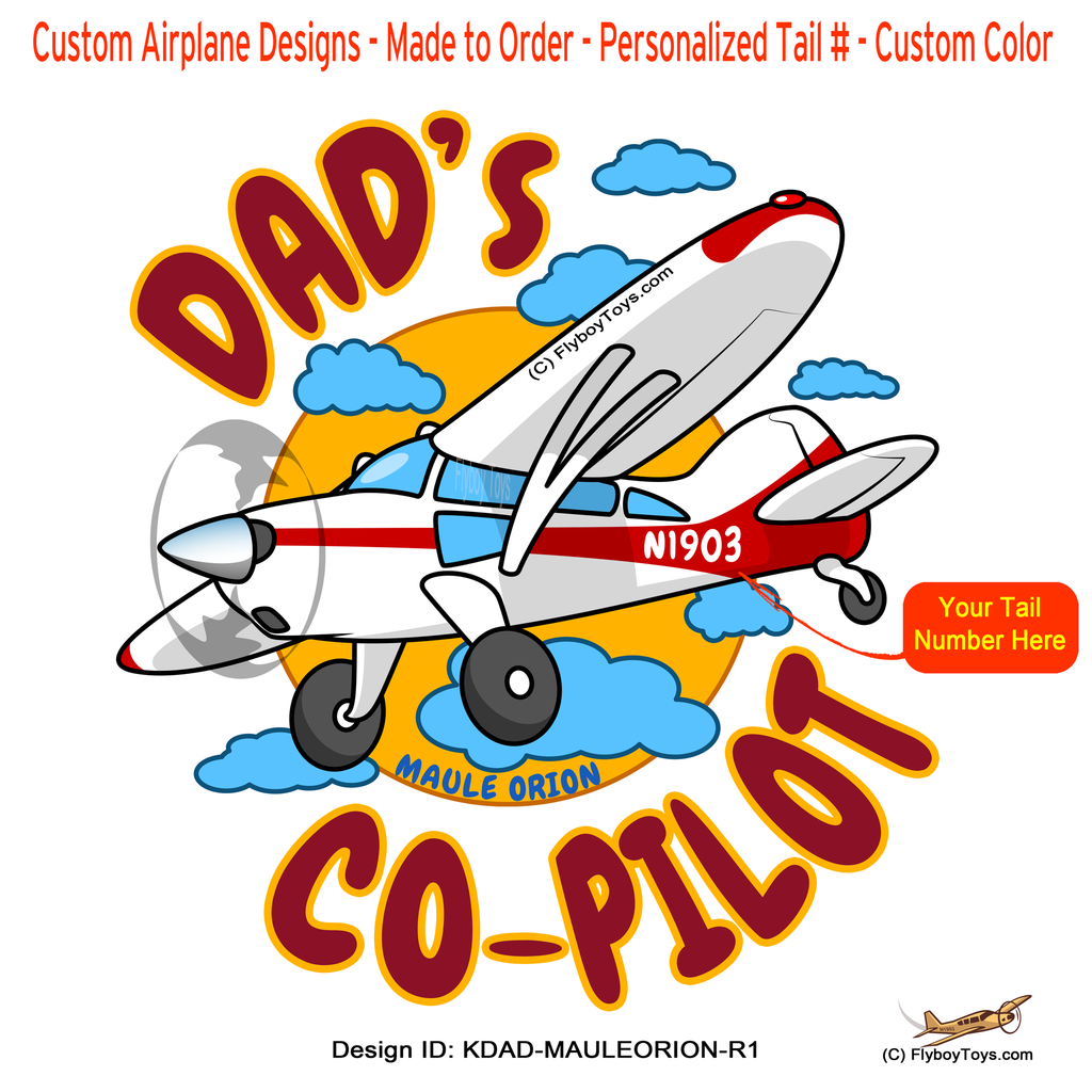 Dad's Co-Pilot Maule Orion (Red) Airplane Design