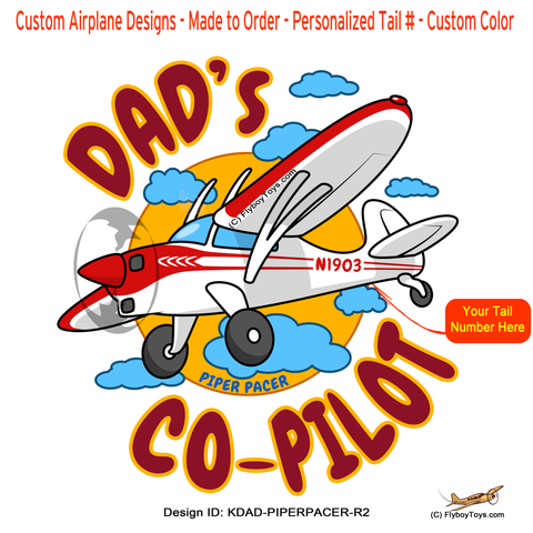 Dad's Co-Pilot Piper PA-22-150 Pacer (Red #2) Airplane Design