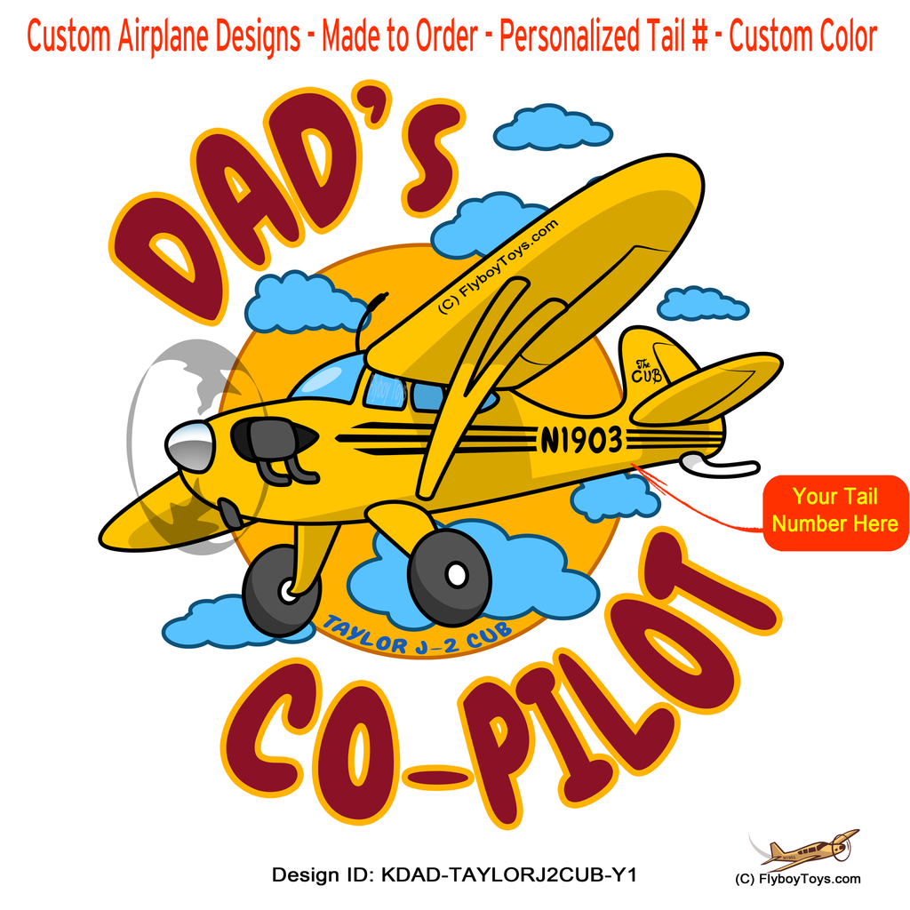 Dad's Co-Pilot Taylor J-2 Cub (Yellow) Airplane Design