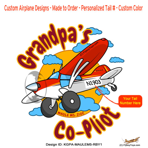 GrandPa's Co-Pilot Maule M-5-210C (Red/Black/Yellow) Airplane Design