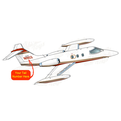 Learjet 24 (Red/Gold) Airplane Design