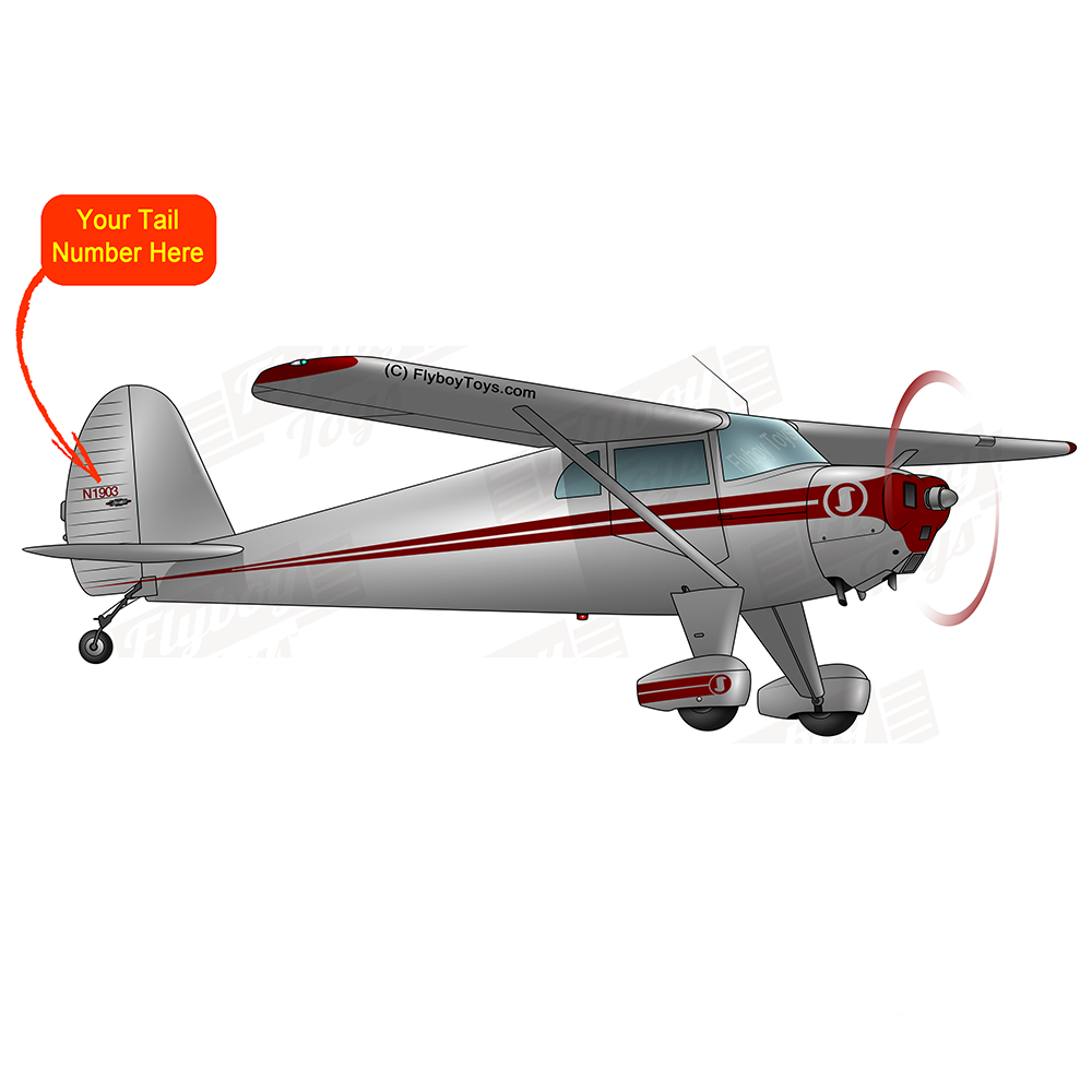 Airplane Design (Silver/Red) - AIRCLJ8A-SR1