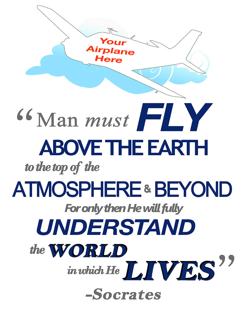 Man Must Fly Quote Airplane Theme