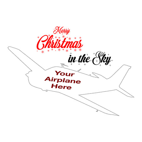 Merry Christmas in the Sky Airplane Theme
