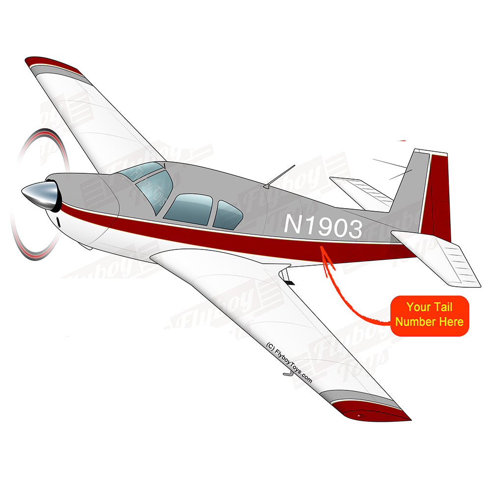 Airplane Design (Red/Silver) - AIRDFFM20-RS1