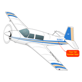 Airplane Design (Blue/Tan) - AIRDFFM20J-BT1