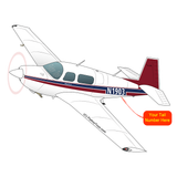 Airplane Design (Red/Blue) - AIRDFFM20J-RB1