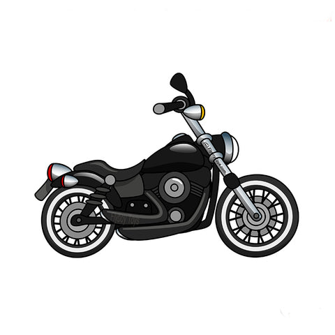 Motorcycle Design (Black) - MOTR81I-BLK1