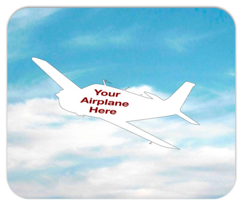 Custom Aviation Mousepad - Personalized w/ your Airplane Aircraft