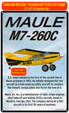 Maule M-7-260C HD Airplane Sign - Yellow/Black