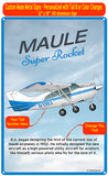Maule Super Rocket HD Airplane Sign - Blue